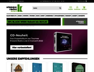 shop.klassikradio.de screenshot