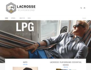 shop.lacrosseplayground.com screenshot