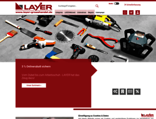 shop.layer-grosshandel.de screenshot