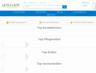 shop.lens2lens.de screenshot