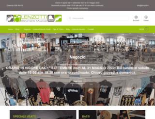 shop.lenzotti.it screenshot