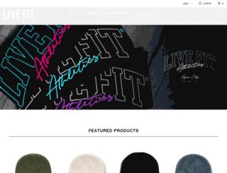shop.livefitapparel.com screenshot