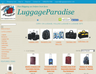 shop.luggageparadise.com screenshot