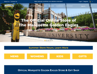 shop.marquette.edu screenshot