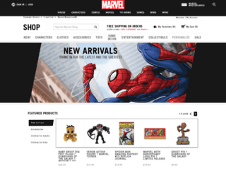 shop.marvel.com screenshot