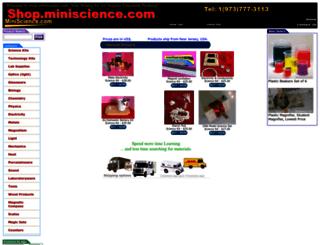 shop.miniscience.com screenshot