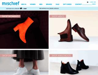 shop.mischiefshoes.co.nz screenshot