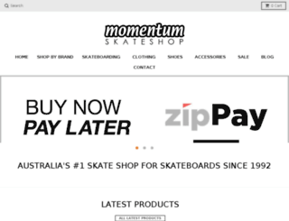 shop.momentumskate.com.au screenshot