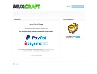 shop.muxcraft.eu screenshot