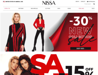 shop.nissa.com screenshot