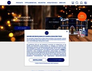 shop.nivea.de screenshot