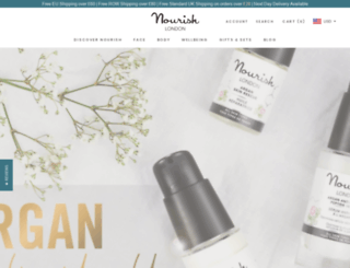 shop.nourishskinrange.com screenshot