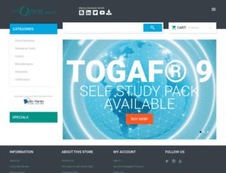shop.opengroup.org screenshot