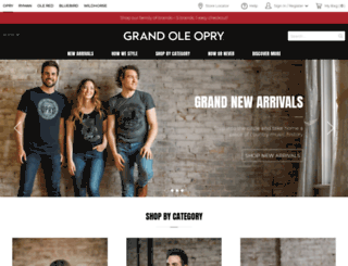 shop.opry.com screenshot