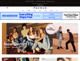 shop.pacsun.com screenshot