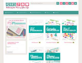 shop.pepperscraps.com screenshot