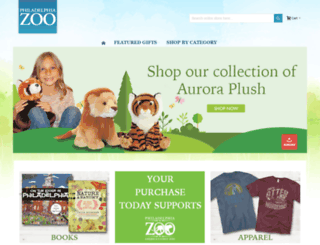 shop.philadelphiazoo.org screenshot