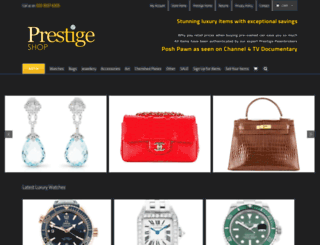 shop.prestigepawnbrokers.co.uk screenshot
