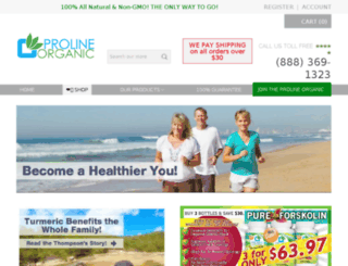shop.prolineorganic.com screenshot