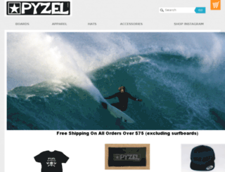 shop.pyzelsurfboards.com screenshot