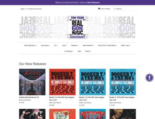 shop.realgonemusic.com screenshot