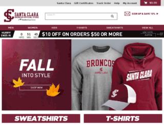 shop.santaclarabroncos.com screenshot