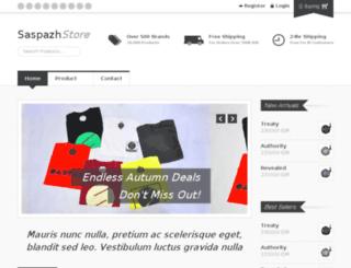 shop.saspazh.com screenshot