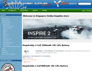 shop.singahobby.com screenshot