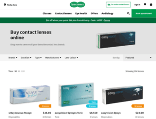shop.specsavers.co.nz screenshot