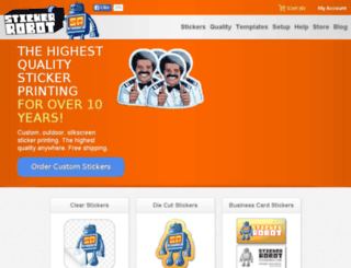shop.stickerobot.com screenshot