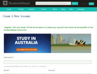 shop.studentsnepal.com screenshot