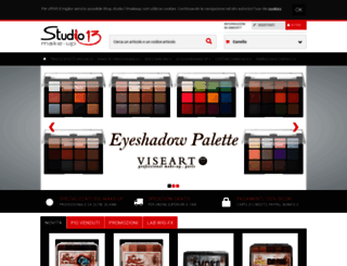 shop.studio13makeup.com screenshot