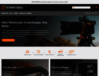 shop.tethertools.com screenshot