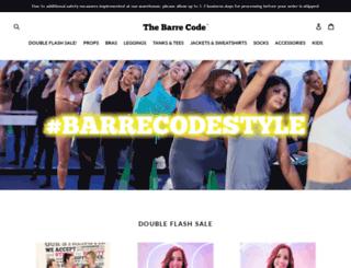 shop.thebarrecode.com screenshot