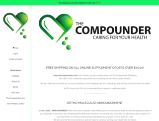 shop.thecompounder.com screenshot