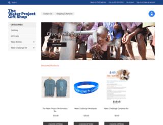 shop.thewaterproject.org screenshot