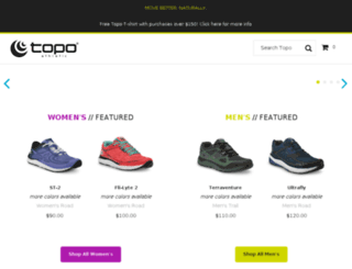 shop.topoathletic.com screenshot