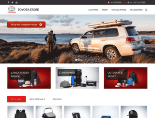 shop.toyota.com.au screenshot