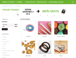 shop.tuteate.com screenshot