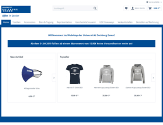 shop.uni-due.de screenshot