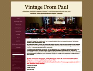 shop.vintagefrompaul.com screenshot