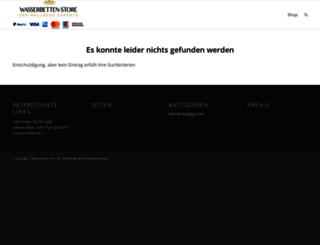 shop.wasserbetten-store.de screenshot