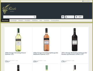 shop.weingut-karl-karle.de screenshot