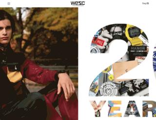 shop.wesc.com screenshot