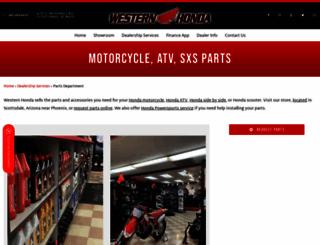 shop.westernhonda.com screenshot