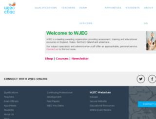 shop.wjec.co.uk screenshot