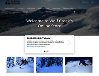 shop.wolfcreekski.com screenshot