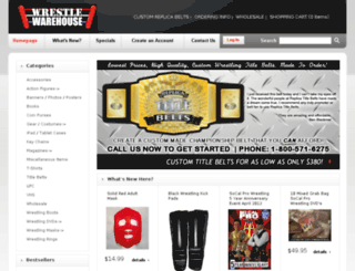 shop.wrestlewarehouse.com screenshot