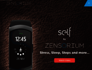 shop.zensorium.com screenshot