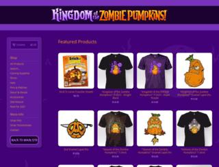 shop.zombiepumpkins.com screenshot
